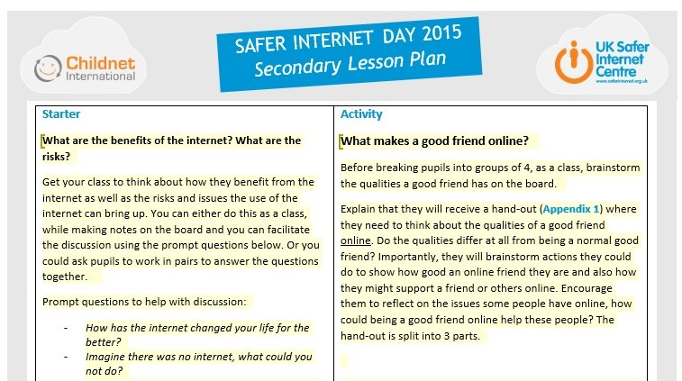 a discussion on how safe internet is for children